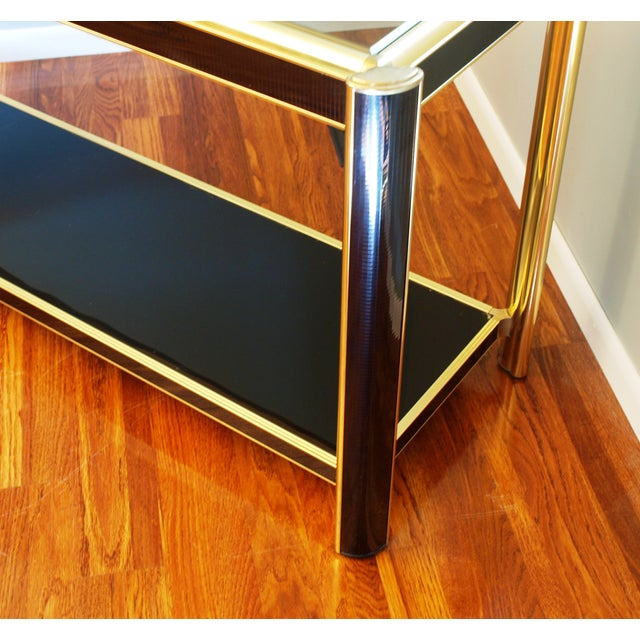 Black Sequin Wrapped Gold Console Table - Image 3 of 9