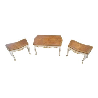 Baker Furniture French Regency Collector Series 3 Piece Coffee Table
