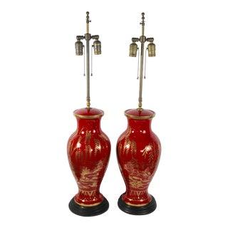 Maitland-Smith Asian Motif Lamps - A Pair