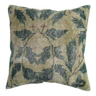 Shabby Chic Green Rug Pillow