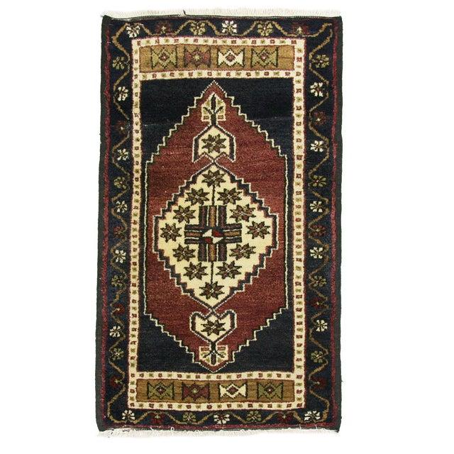 "Vintage Kurdish Carpet - 1'10"" x 3'2"" - Image 1 of 2"