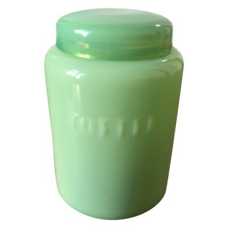 Vintage Jadeite Coffee Jar