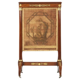French Empire Ormolu Mounted Mahogany Firescreen, Circa 1810