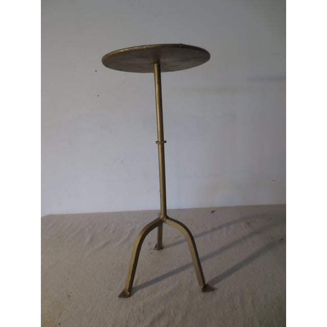 Image of Vintage 1970s Gilt Iron Side Table