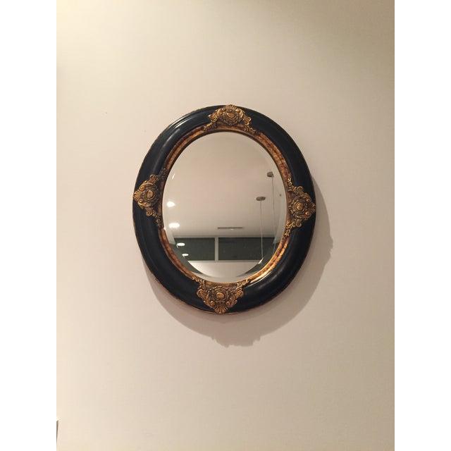Beveled Black & Gilded Mirror - Image 5 of 8