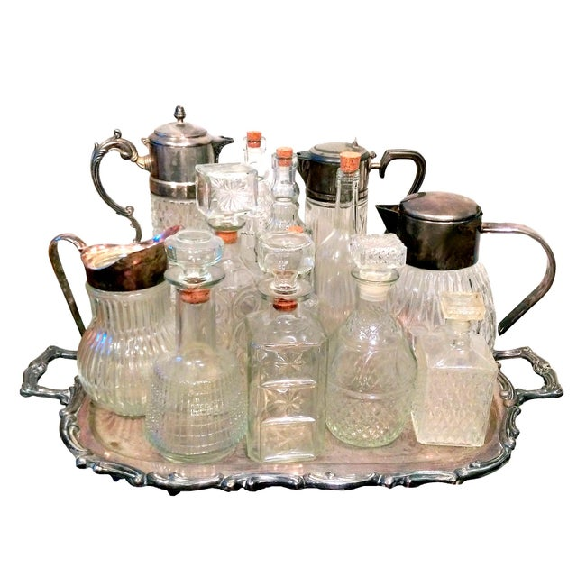 Italian Crystal & Glass Beverage Set - 14 Piece - Image 2 of 7