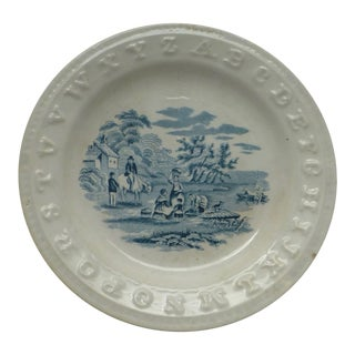 19th C. English Alphabet Plate