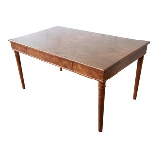 Dessin Fournir Louis Philippe Style Burled Olive Wood Library Table or Writing Desk