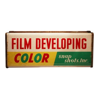 Vintage 'Color - Snap Shots' Sign