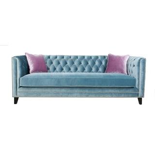 Pasargad Victoria Collecion Tufted Blue Sofa