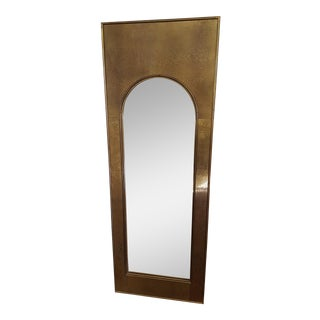 Vintage Mastercraft Arched Brass Mirror