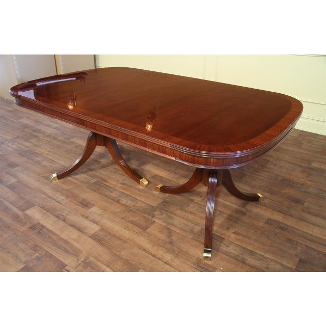 Formal Double Pedestal Mahogany Dining Table Chairish
