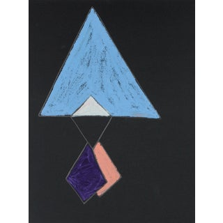 20th Century Angular Abstract Drawing