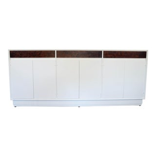 Mid-Century Modern White Sideboard. Buffet