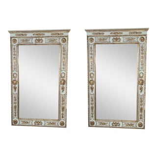 Italian Carved Giltwood Mirrors - A Pair
