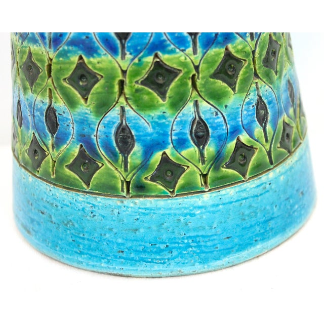 Bitossi Raymor Rimini Blue Pottery Lamp - Image 3 of 7