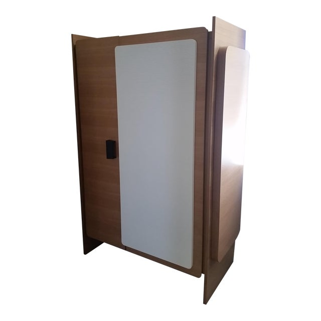 Modern Custom Designed Lacquered Wood Armoire - Image 2 of 5
