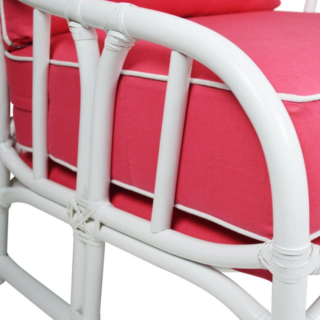 Image of Ficks Reed Lilly White & Pink Chairs - a Pair