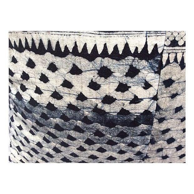Tribal Indigo Batik Pillows - Pair - Image 3 of 6