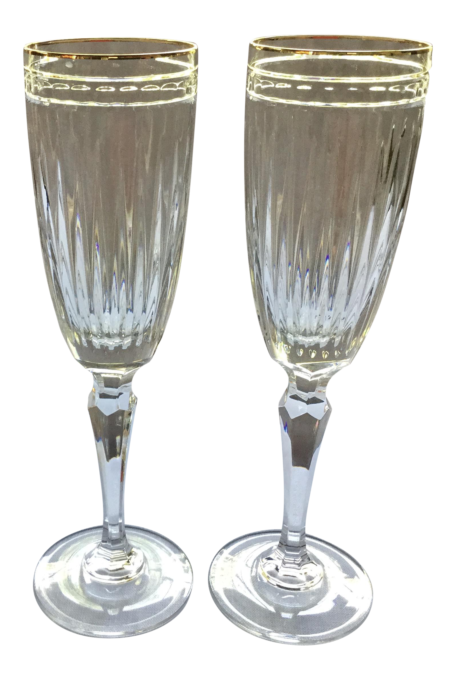 waterford crystal champagne flutes a pair - Waterford Champagne Flutes