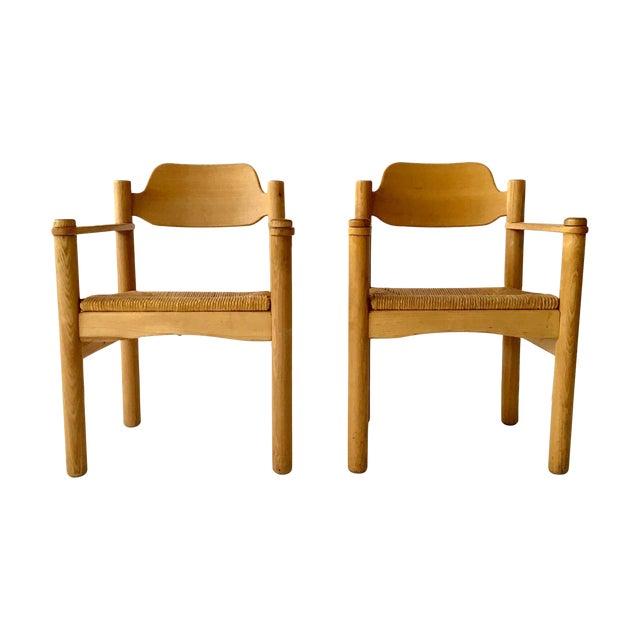 Italian Rush Seat Armchairs - Pair - Image 1 of 6