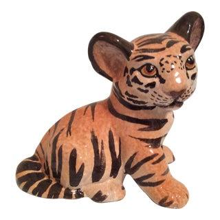 Vintage Italian Ceramic Tiger Cub Figurine