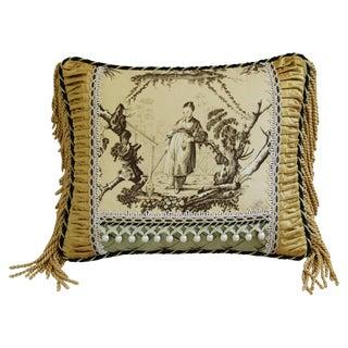 Designer Brunschwig Fils Chinoiserie Toile Pillow