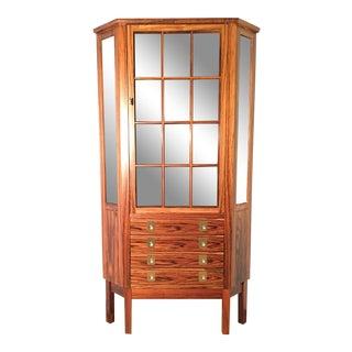 Bruksbo Mid Century Modern Corner Rosewood Curio Cabinet