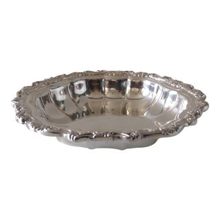 Silver Plate Scalloped Nut Dish