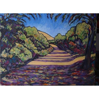 """Walk in the Hills Summer"" Original Acrylic Painting"