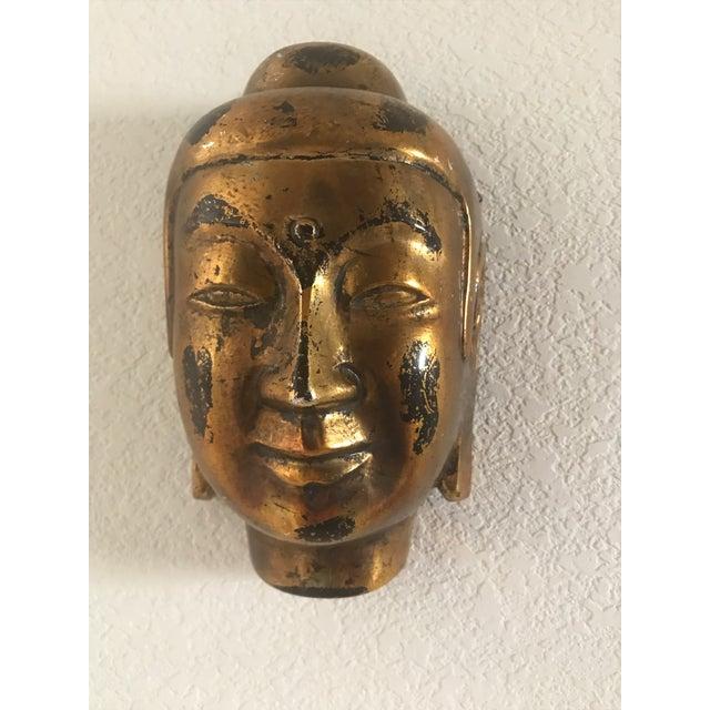Vintage Gold Leaf Buddha Head - Image 5 of 5