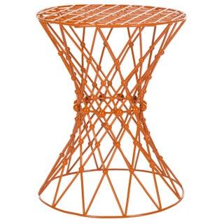 Charlotte Iron Wire Stool - Orange