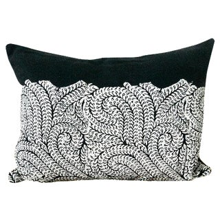 Indigo Hand-Printed Lumbar Pillow Cover