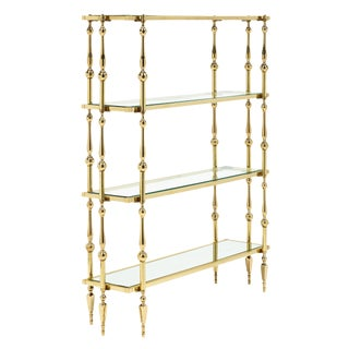 French Mid-Century Modern Brass Etagere by Maison Raphael