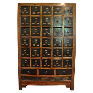 1800's Antique Chinese Medicine Cabinet