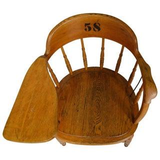 Vintage Oak Classroom School Chair