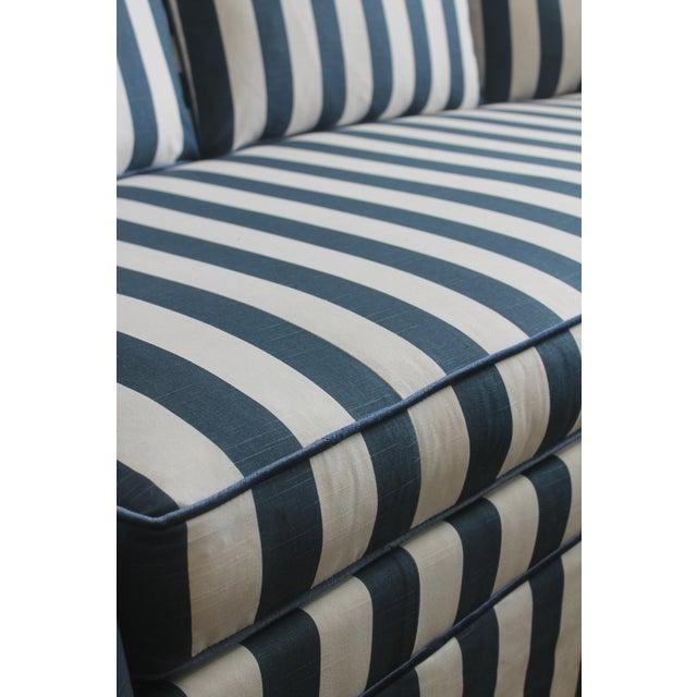 Lillian August Navy White Stripe Sofa - Image 5 of 6