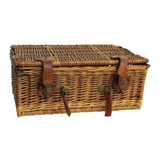 Rustic Wicker Picnic Basket