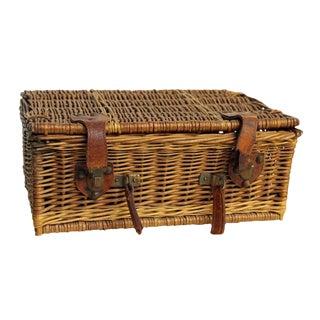 Rustic Wicker Picnic Basket
