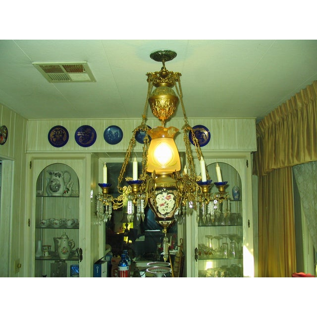 French Traditional Victorian Hall Chandelier 19th Century - Image 3 of 8