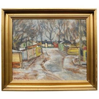 """""""Dyrehavsbakken"""" Painting by Alfred Hartig"""