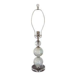 Ivory/Opal White Glass Sphere Lamp