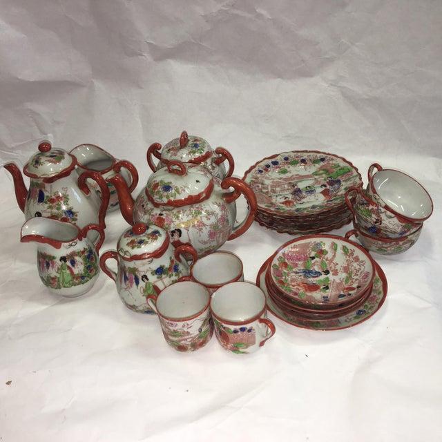 Japanese Porcelain Tea Set - Set of 22 - Image 2 of 10