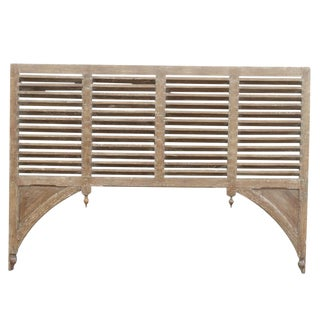 Indo French Shutter Panel Headboard