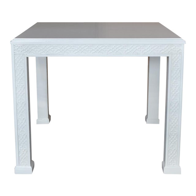 Large Chippendale-Style Fretwork Side Table - Image 1 of 5