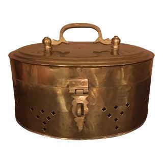 Vintage Oval Brass Cricket Box