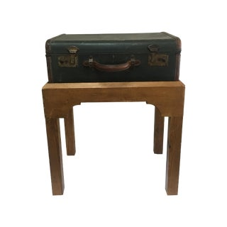 1920's English Suitcase on Stand
