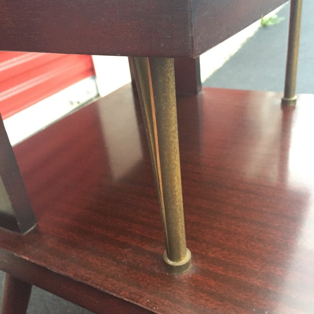 Mid-Century Mahogany End Tables - A Pair - Image 7 of 11