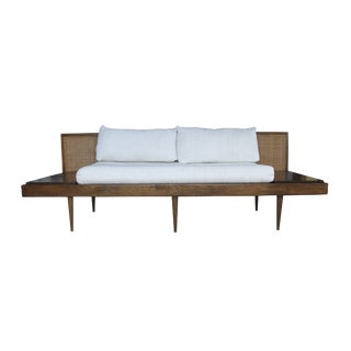 Mid-Century Sofa With Attached End Tables