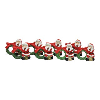 Santa Claus Napkin Rings - Set of 8